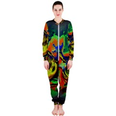 Abstract Transparent Background Onepiece Jumpsuit (ladies)