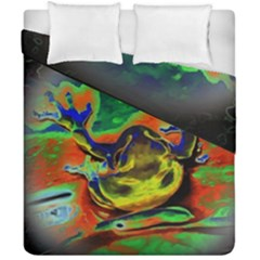 Abstract Transparent Background Duvet Cover Double Side (california King Size)