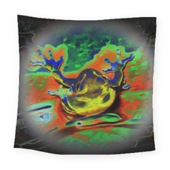 Abstract Transparent Background Square Tapestry (large)