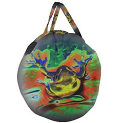 Abstract Transparent Background Giant Round Zipper Tote by Samandel