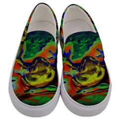 Abstract Transparent Background Men s Canvas Slip Ons