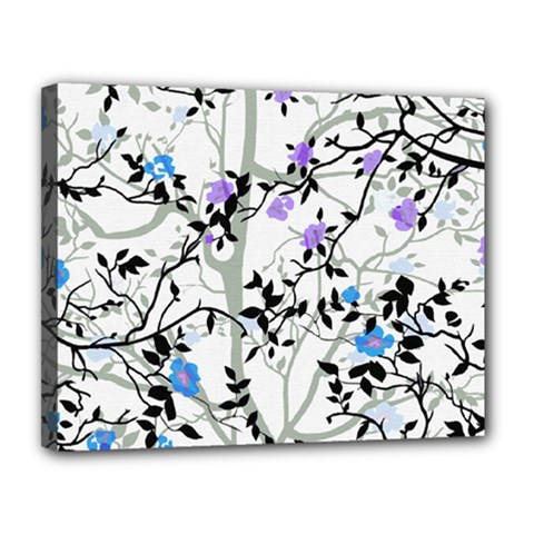 Floral Pattern Background Canvas 14  X 11  (stretched)