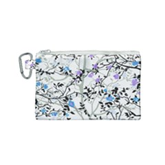 Floral Pattern Background Canvas Cosmetic Bag (small)