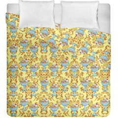 Paisley Yellow Sundaes Duvet Cover Double Side (king Size)