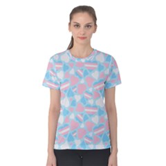 Transgender Pride Hearts; A Cute Trans Pride Motif! Women s Cotton Tee by PrideMarks