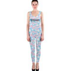 Transgender Pride Hearts; A Cute Trans Pride Motif! One Piece Catsuit by PrideMarks
