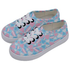 Transgender Pride Hearts; A Cute Trans Pride Motif! Kids  Classic Low Top Sneakers by PrideMarks