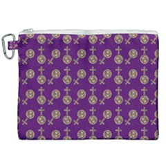 Victorian Crosses Purple Canvas Cosmetic Bag (xxl) by snowwhitegirl