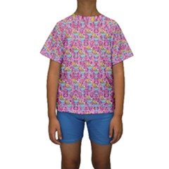 Paisley Pink Sundaes Kids  Short Sleeve Swimwear by snowwhitegirl