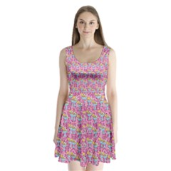 Paisley Pink Sundaes Split Back Mini Dress