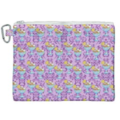 Paisley Lilac Sundaes Canvas Cosmetic Bag (xxl) by snowwhitegirl