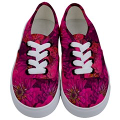 Pink Zinnias Kids  Classic Low Top Sneakers