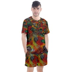 Pizza Men s Mesh Tee And Shorts Set