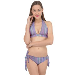 Broken Tv Screen Tie It Up Bikini Set by dressshop