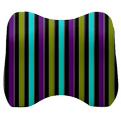 Retro Stripe 1 Vertical Retro Stripe 1 Velour Head Support Cushion by dressshop