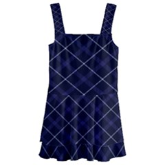 Blue Plaid  Kids  Layered Skirt Swimsuit by dressshop