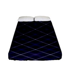 Blue Plaid  Fitted Sheet (full/ Double Size) by dressshop
