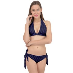 Blue Plaid  Tie It Up Bikini Set by dressshop