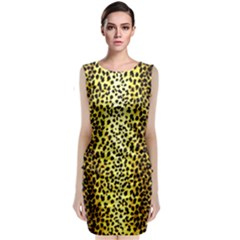 Leopard 1 Leopard A Classic Sleeveless Midi Dress by dressshop