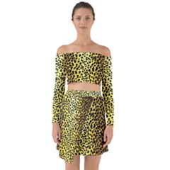 Leopard 1 Leopard A Off Shoulder Top With Skirt Set by dressshop