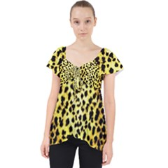 Leopard 1 Leopard A Lace Front Dolly Top by dressshop