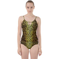 Leopard 1 Leopard A Cut Out Top Tankini Set by dressshop