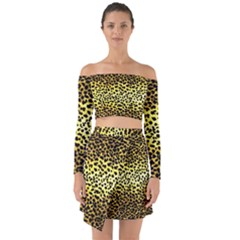 Leopard Version 2 Off Shoulder Top With Skirt Set by dressshop