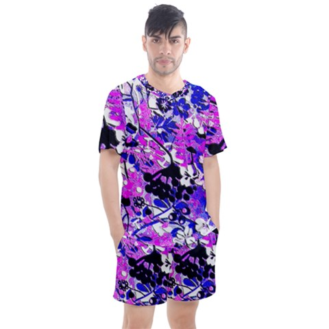 Floral Legging Floral Rug Men s Mesh Tee And Shorts Set by dressshop