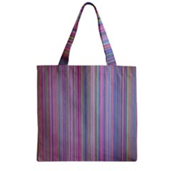 Broken Tv Screen Zipper Grocery Tote Bag by dressshop