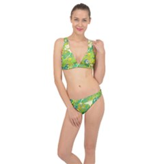 Floral 1 Abstract Classic Banded Bikini Set  by dressshop