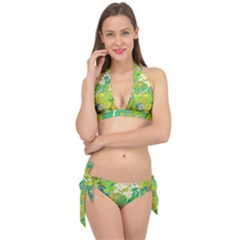 Floral 1 Abstract Tie It Up Bikini Set by dressshop
