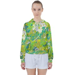 Floral 1 Abstract Women s Tie Up Sweat by dressshop