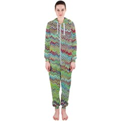 Cool Green Marbled  Hooded Jumpsuit (ladies)
