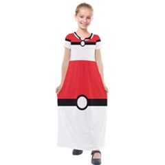 Poke Ball Kids  Short Sleeve Maxi Dress