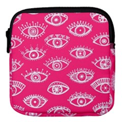 Pink Eye Mini Square Pouch by Wanni