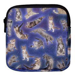 Space Cat2 Mini Square Pouch by Wanni