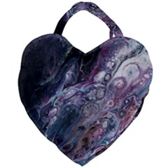 Planetary Giant Heart Shaped Tote by ArtByAng