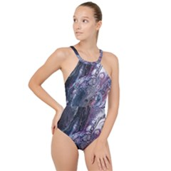 Planetary High Neck One Piece Swimsuit