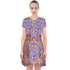 Red Purple Sparkle Floral Adorable In Chiffon Dress