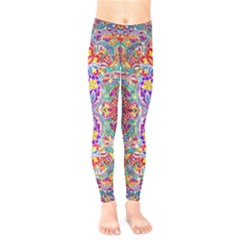 Red Purple Sparkle Floral Kids  Legging
