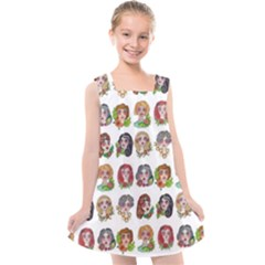All The Petty Ladies Kids  Cross Back Dress by ArtByAng