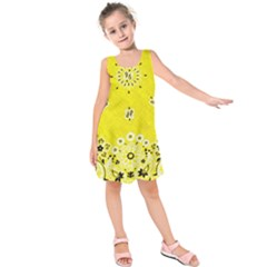 Grunge Yellow Bandana Kids  Sleeveless Dress by dressshop