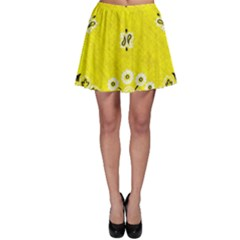 Grunge Yellow Bandana Skater Skirt by dressshop