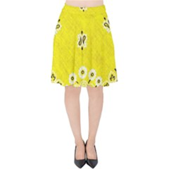 Grunge Yellow Bandana Velvet High Waist Skirt by dressshop