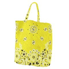 Grunge Yellow Bandana Giant Grocery Tote by dressshop