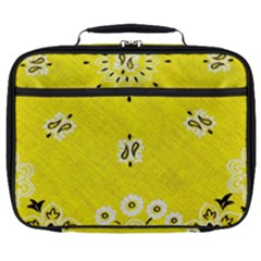 Grunge Yellow Bandana Full Print Lunch Bag by dressshop