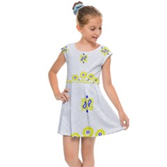 Faded Yellow Bandana Kids Cap Sleeve Dress by dressshop
