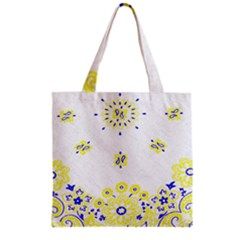 Faded Yellow Bandana Grocery Tote Bag by dressshop