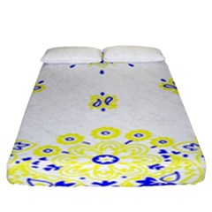 Faded Yellow Bandana Fitted Sheet (king Size) by dressshop