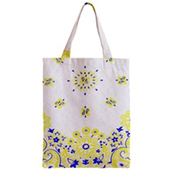 Faded Yellow Bandana Zipper Classic Tote Bag by dressshop